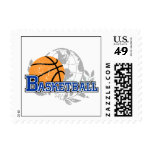 Blue Basketball T-shirts and Gifts Stamps