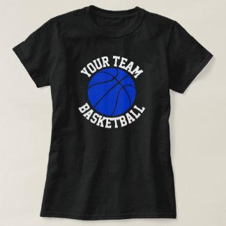 Blue Basketball Team, Player & Jersey Number Shirt