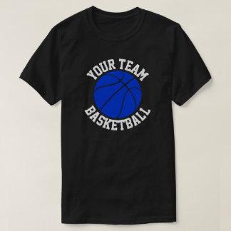 Blue Basketball Team  Player & Jersey Number Shirt