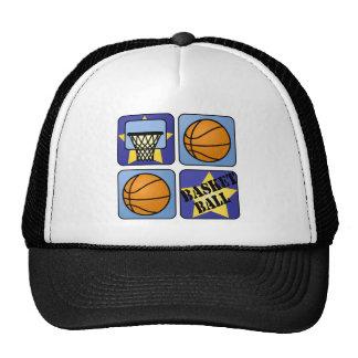 Blue Basketball Trucker Hat