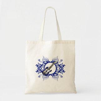 Blue Bass Blue Floral Circle Design Canvas Bag