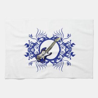 Blue Bass Blue Floral Circle Design Kitchen Towels