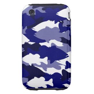 Blue Bass Camo Tough iPhone 3 Case