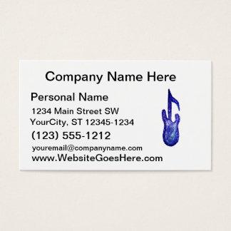 blue bass guitar music note crayon business card