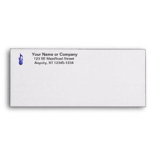 blue bass guitar music note crayon envelope