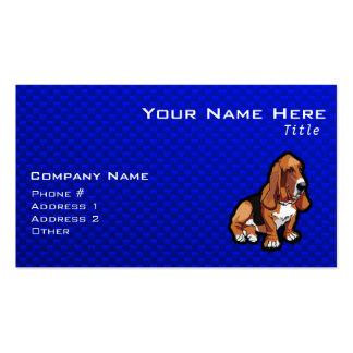 Blue Basset Hound Business Card Template