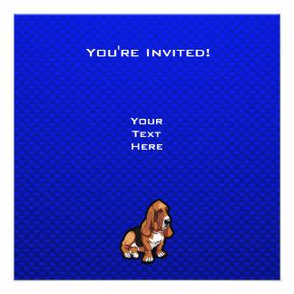Blue Basset Hound Custom Invitations