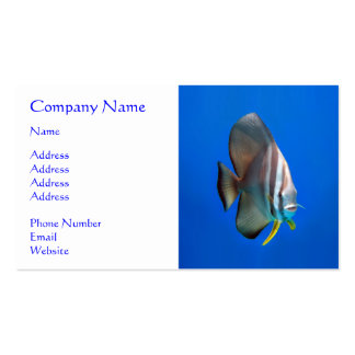 Blue Bat Fish Double-Sided Standard Business Cards (Pack Of 100)
