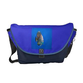 Blue Bat Fish Courier Bag