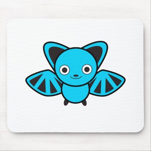 Blue Bat Mouse Pad