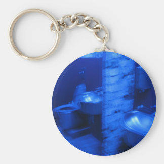 Blue Bathroom keychain