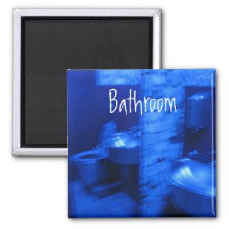 Blue Bathroom magnet