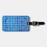 blue bathroom tile tag for luggage