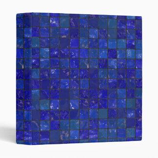 Blue Bathroom Tiles 3 Ring Binder