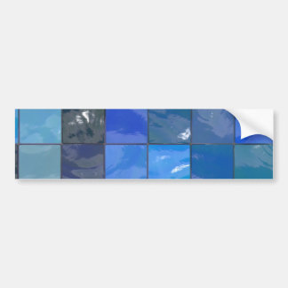 Blue Bathroom Tiles Design Bumper Sticker