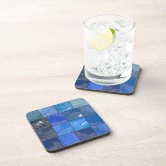 Blue Bathroom Tiles Design Drink Coaster