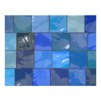 Blue Bathroom Tiles Design Flyer