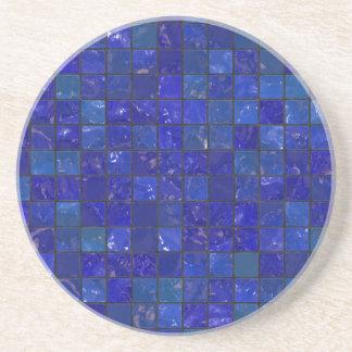 Blue Bathroom Tiles Sandstone Coaster
