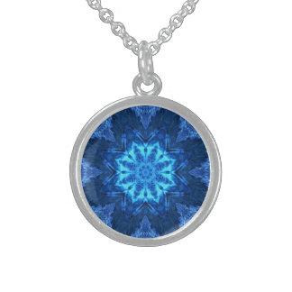 Blue Batik Necklace