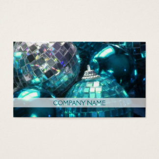 Blue Baubles business card front text