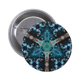 Blue Baubles Button