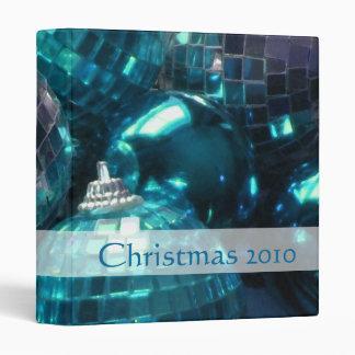 Blue Baubles 'Christmas 2010' binder front