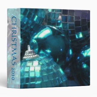 Blue Baubles 'Christmas 2010' binder spine