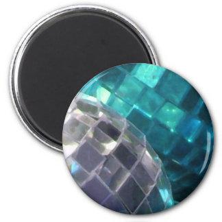 Blue Baubles detail fridge magnet