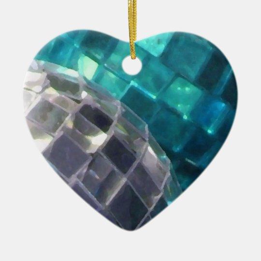Blue Baubles detail ornament heart