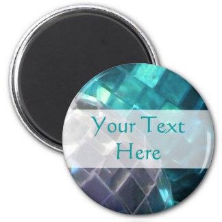 Blue Baubles detail 'Your Text' magnet