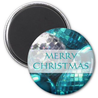 Blue Baubles 'Merry Christmas' fridge magnet