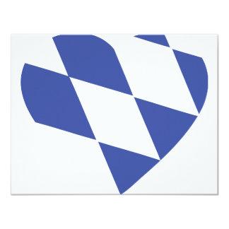 blue bavarian heart icon card