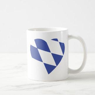 blue bavarian heart icon coffee mug