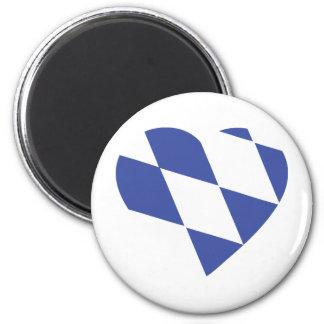 blue bavarian heart icon magnet