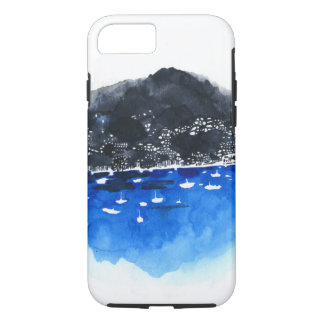 Blue Bay and Sailboats iPhone 7 Case
