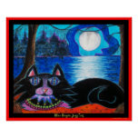 Blue Bayou Jazz Cat Print