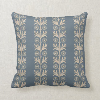 Blue Bayoux Arts and Crafts Floral Stripe Throw Pillow