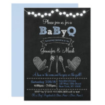 Blue BBQ Baby Shower Card