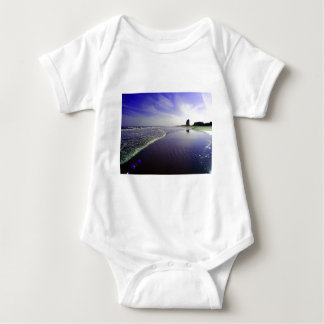 Blue Beach Baby Bodysuit