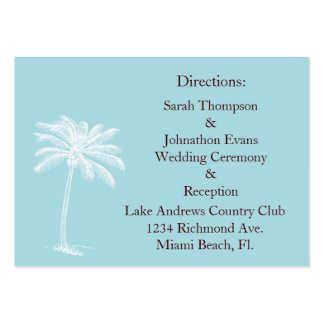 Blue Beach Getaway Direction Cards Large Business Cards (Pack Of 100)
