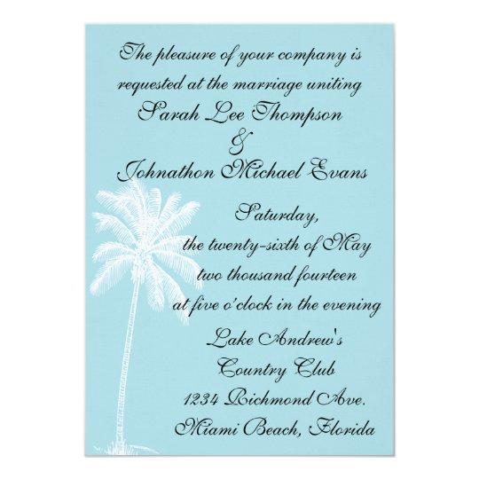 Blue Beach Getaway Invitation 5 x 7