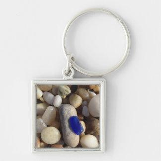 Blue Beach Glass keychain