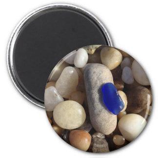 Blue Beach Glass Magnet