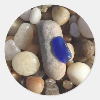 Blue Beach Glass Sticker