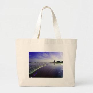 Blue Beach Large Tote Bag