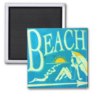 blue beach magnet