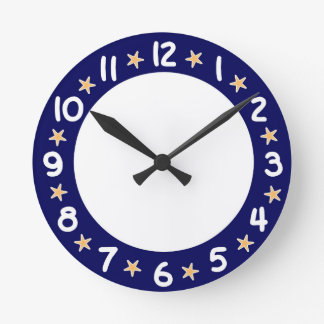 Blue Beach Ocean Starfish Wall Clock