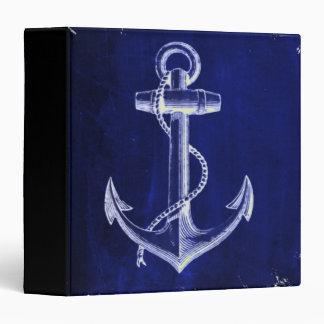 blue beach rustic shabby chic nautical anchor 3 ring binder