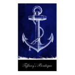 blue beach rustic shabby chic nautical anchor Double-Sided standard business cards (Pack of 100)