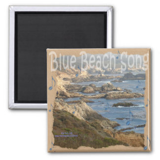 Blue Beach Song™ - Square Magnet